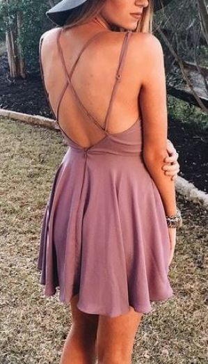 Strappy dresses are so cute for summer outfits and tanned skin!