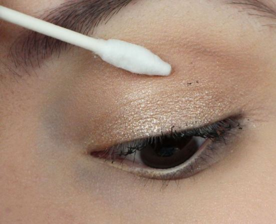 Q tips are great for touching up makeup!