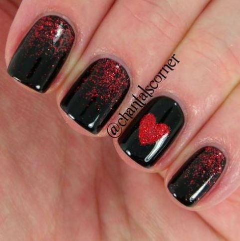 These Valentine's Day nails are so pretty!
