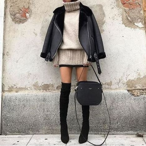 Turtlenecks are perfect for winter date night outfits!