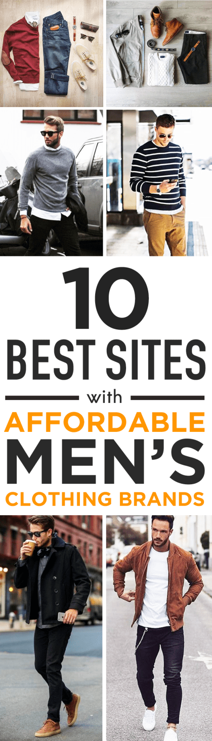 10 Best sites with affordable men's clothing brands