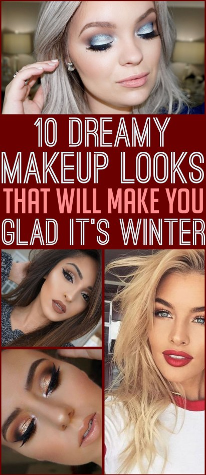 These dreamy makeup looks will make you glad it's winter!