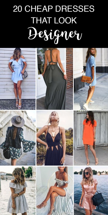 You need these cheap dresses that look designer!