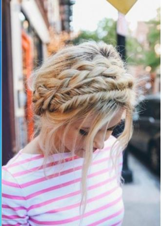 Crown braids are one of the top hairstyle trends and is an upgrade from a basic bun!