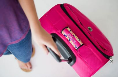Handle wraps are cute ways to personalize your luggage!
