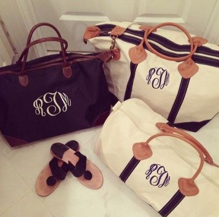 Adding monograms are cute ways to personalize your luggage!