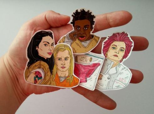 Stickers are some of the best Orange is the New Black gifts to give!