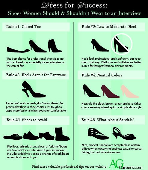 These shoe tips are great ideas for how to dress for an interview!