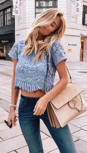 Lace is perfect for cute crop tops!