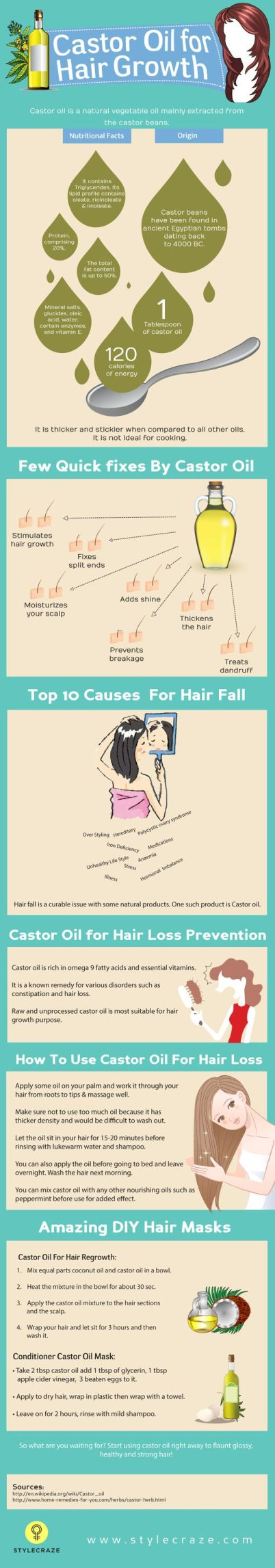 Using castor oil is a great way to grow your hair longer!