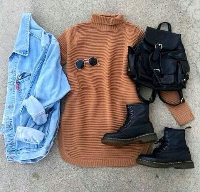 Turtleneck sweaters are great for putting together cute outfits for school!