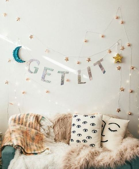 Throw pillows are a fun and easy way to decorate your dorm room on a budget!