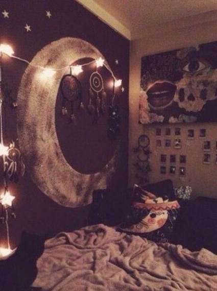 Show off your love for the moon in your boho dorm rooms!