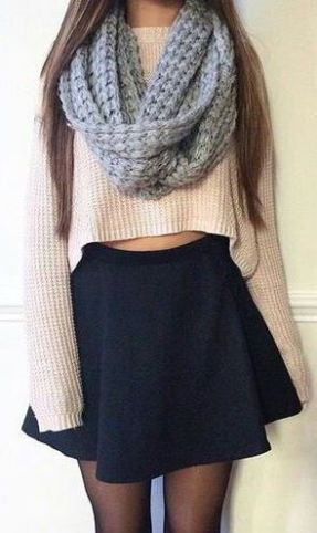 Scarves are the perfect addition to cute crop tops!