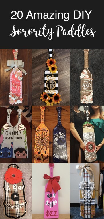 These sorority paddles are so cute and needed !