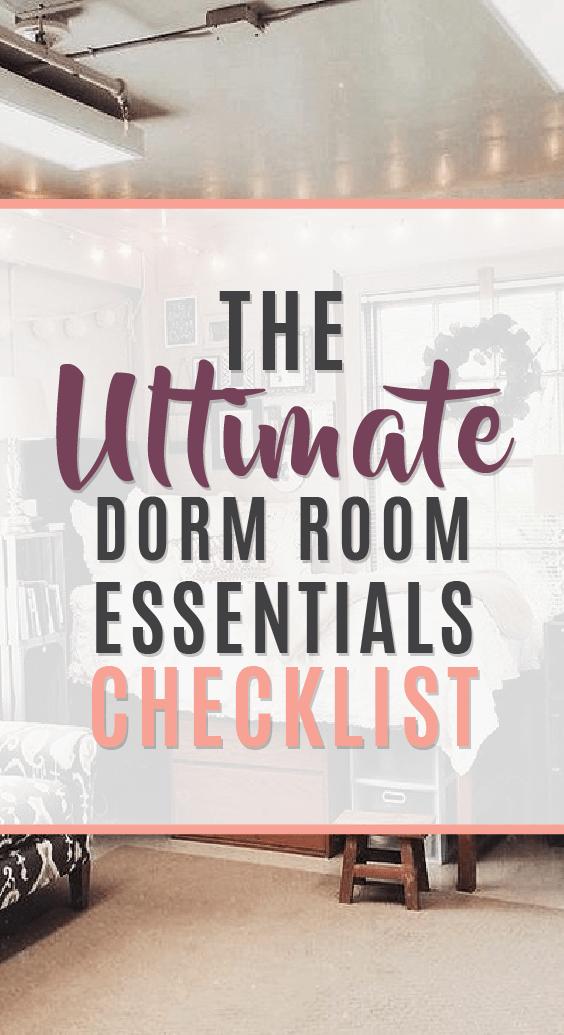 The ultimate dorm room essentials checklist