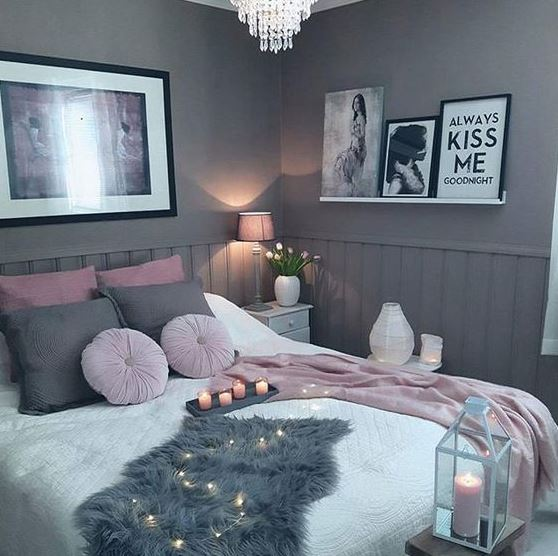 Calming color schemes are great ways to make your bedroom cozy!