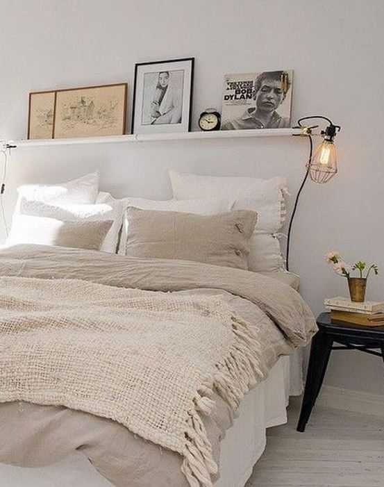 Dim lights are great ways to make your bedroom cozy!