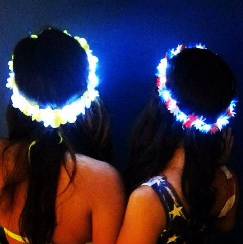These light up flower crowns are so cute!
