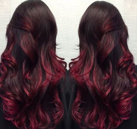 Violet is perfect for brunette ombre hairstyles!
