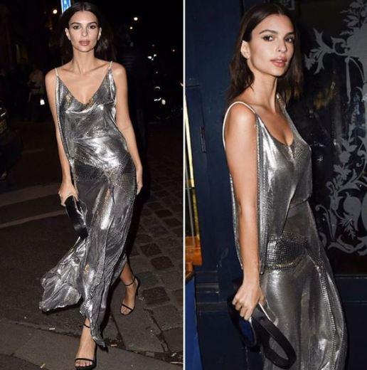Metallic shades are fun ways to wear slip dresses!
