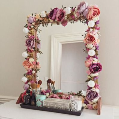 A decorative mirror is a great DIY dorm room decor idea!