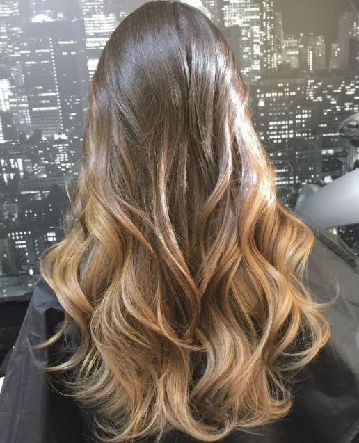 Natural is so pretty for brunette ombre hairstyles!