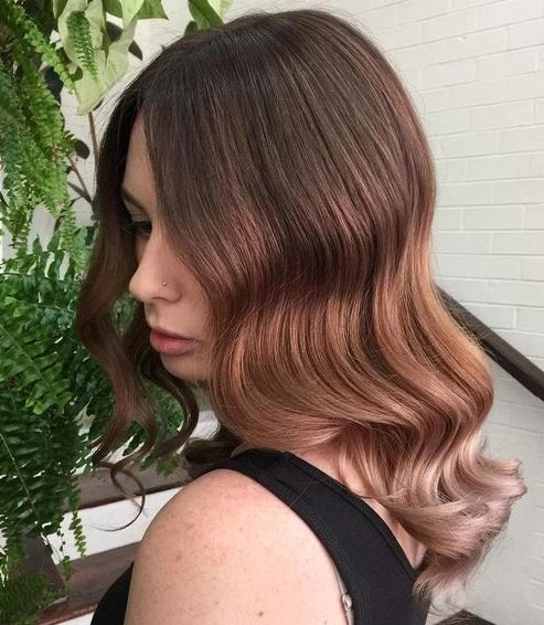 Rose gold is perfect for brunette ombre hairstyles!