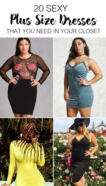 These are the sexiest plus size dresses you NEED to have!