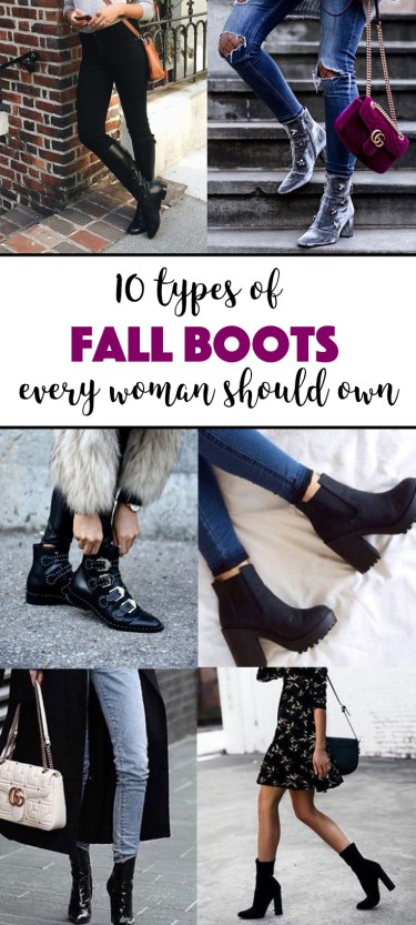 These are the different types of fall boots that every women should own!