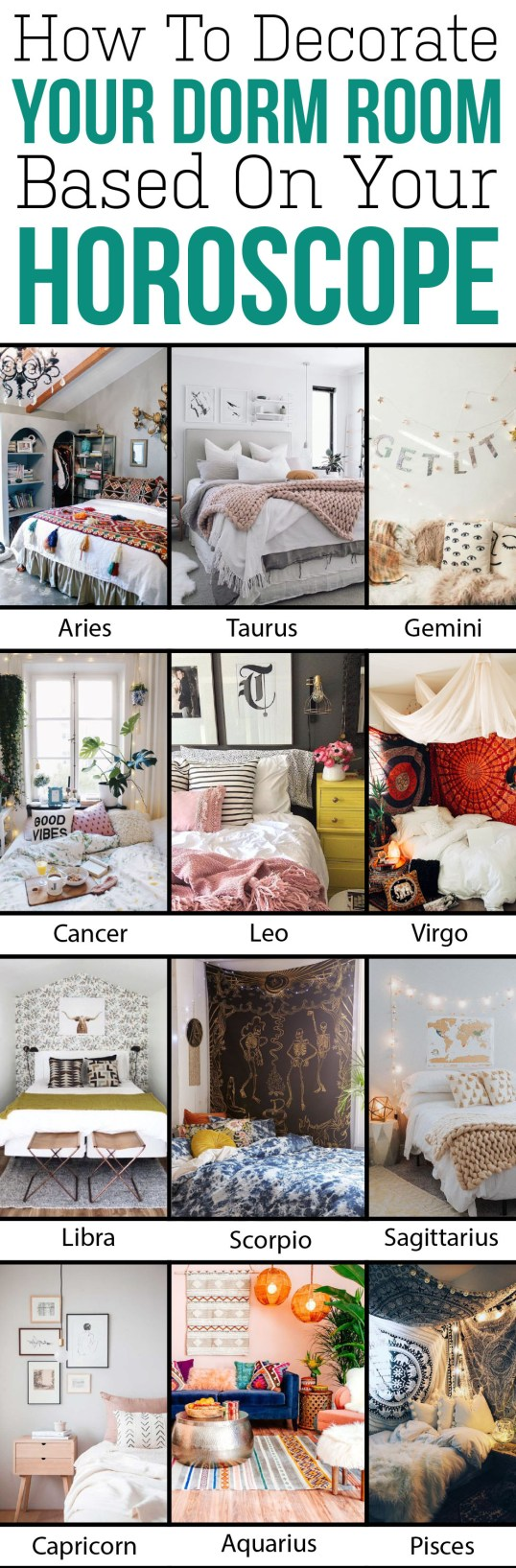 How To Decorate Your Dorm Based On Your Horoscope
