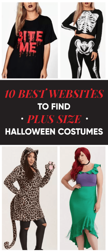 The BEST websites to find plus size Halloween costumes!