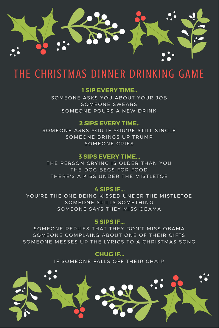 Drinking game christmas gifts