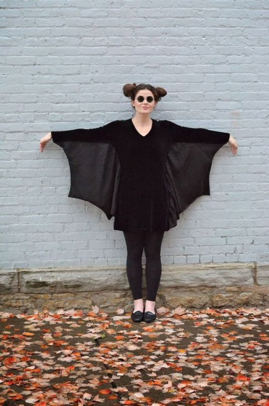 Cute bat wing costume!