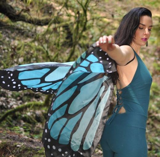 Butterfly wing costume!