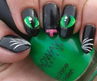 The Cutest Halloween Nail Art Inspiration From Pinterest ...