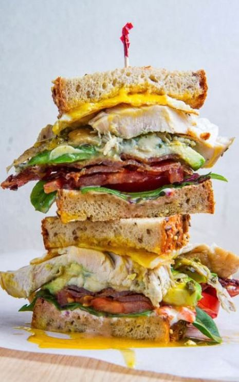 Try out this cobb turkey sandwich!