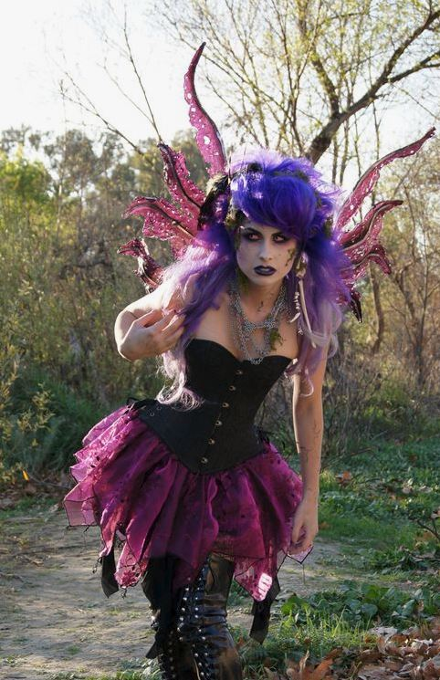 Dark fairy wing costume!