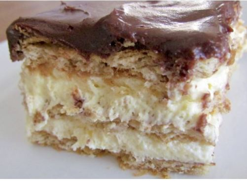 This eclair cake is one of the top no bake desserts!