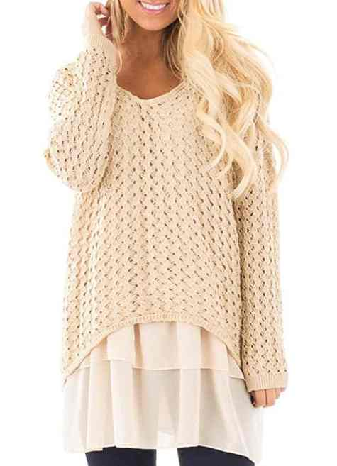 Oversized sweaters look great matched with some cute ankle boots!