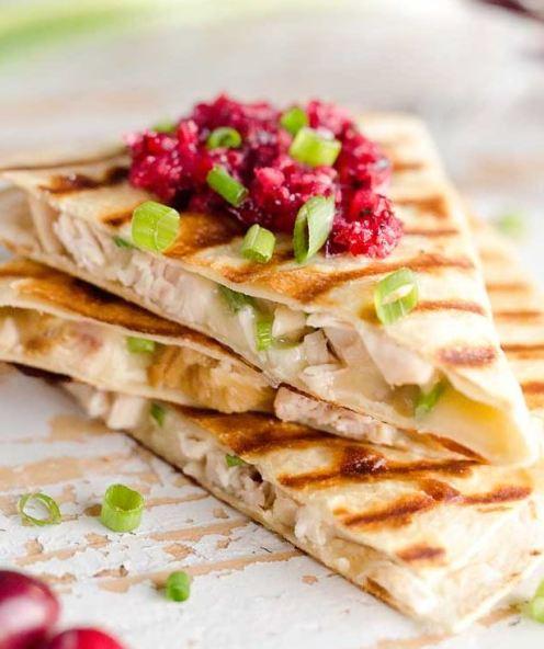 This quesadilla is a great turkey sandwich recipe!