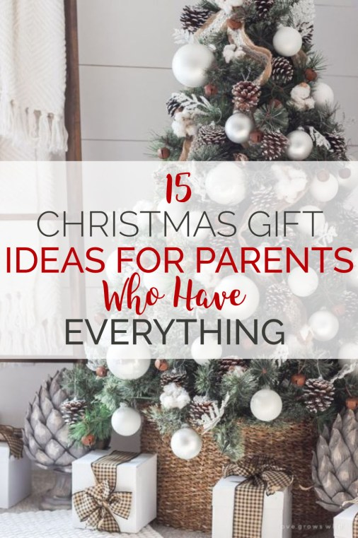 15 Christmas Gift Ideas For Parents Who Have Everything ...
