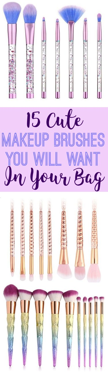 These are teh cutuest makeup brushes you will want in your makeup bag!