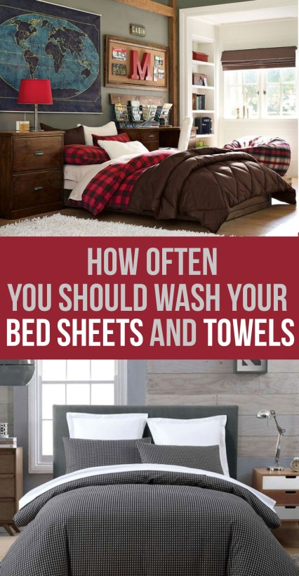 You may not know it, but this is how often you should be washing your bed sheets and towels...