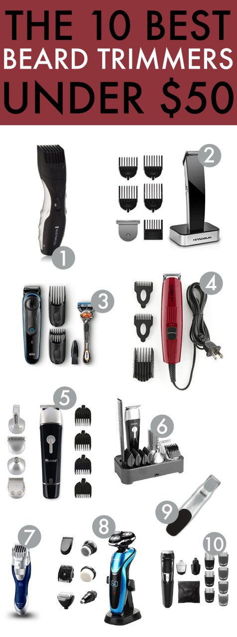 These beard trimmers are needed in your life, and they're all under $50!