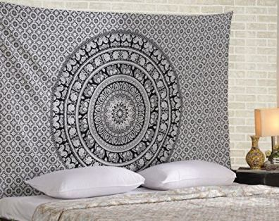 How to hang a tapestry in your dorm without it falling down!