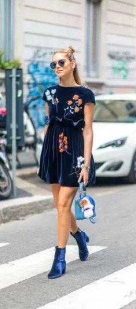 This velvet dress is so cute!