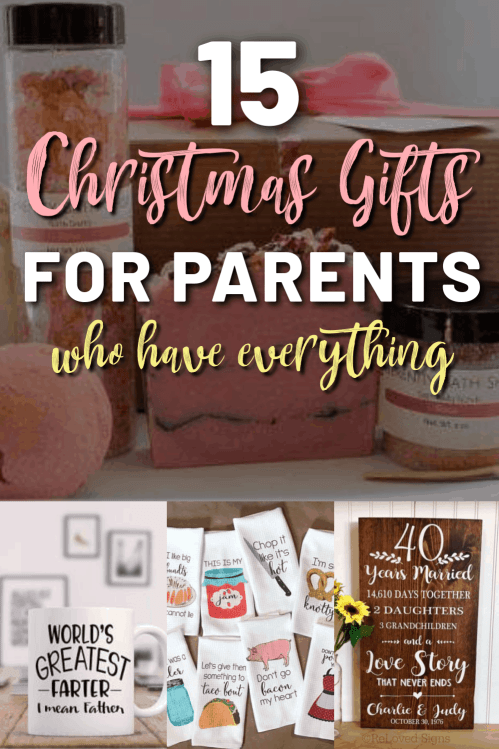 15 Christmas Gift Ideas For Parents Who Have Everything