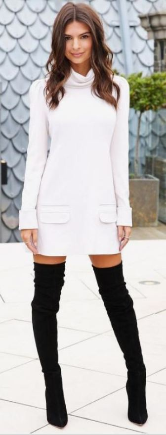 Black thigh high boots make for great outfits throughout the fall and winter!