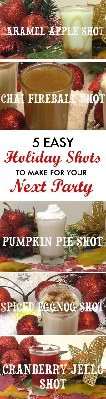 5 Easy Holiday Shots To Make For Your Next Party